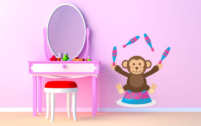 Circus Juggling Monkey Wall Sticker