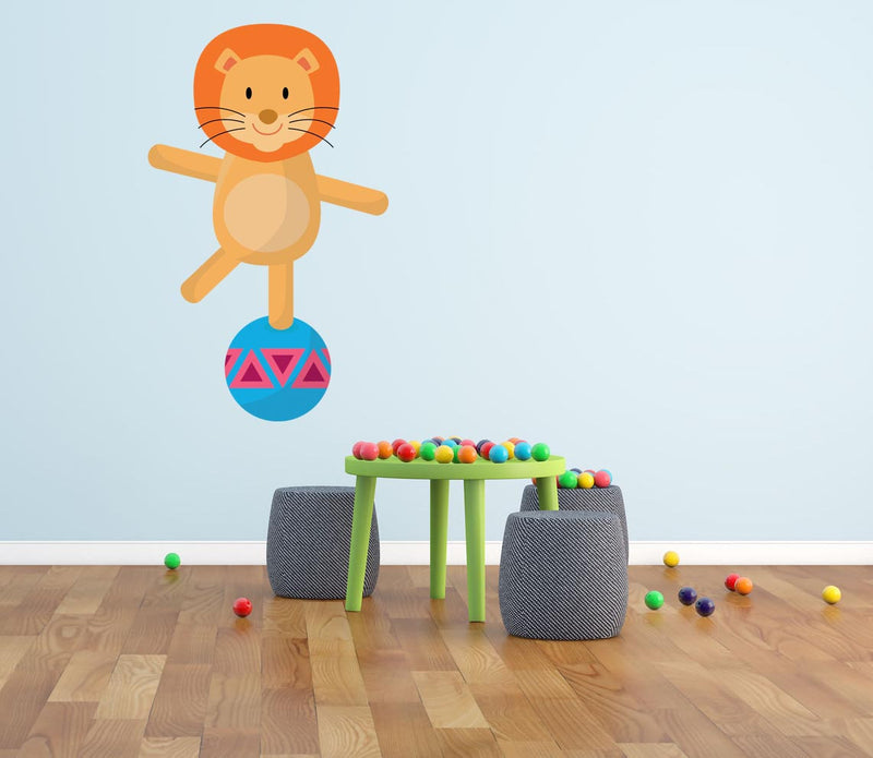 Circus Lion Wall Decal - Canvas Art Rocks - 1