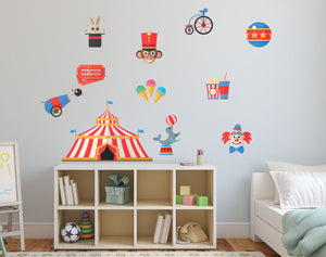 Circus Set Wall Decal - Canvas Art Rocks - 1