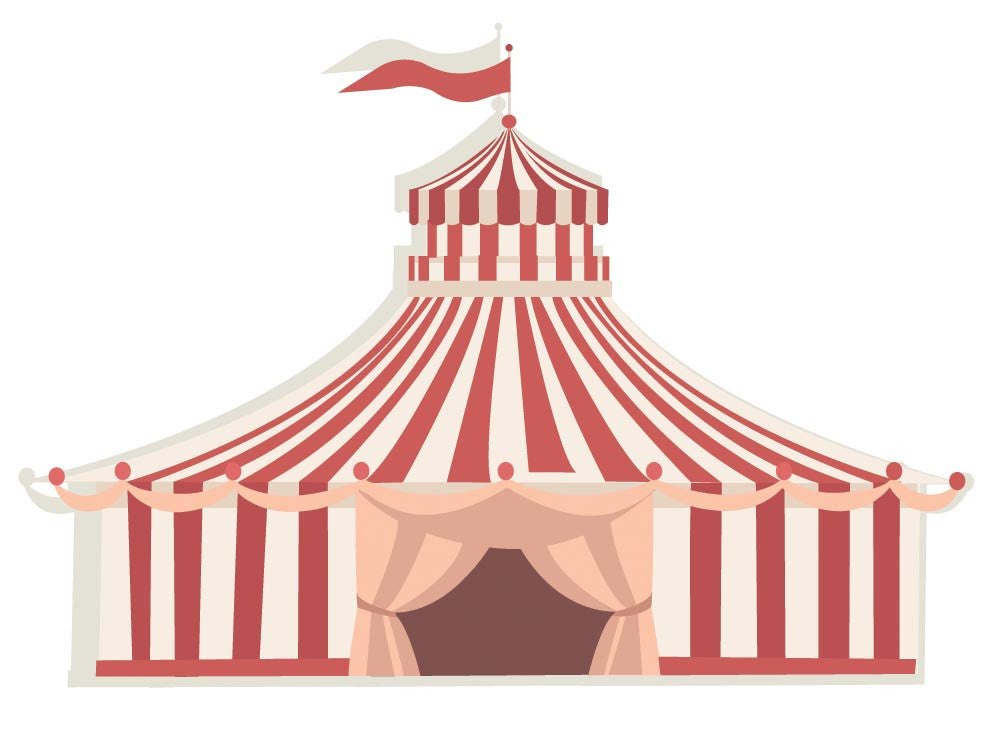 ... Circus Tent Wall Decal - Canvas Art Rocks - 3  sc 1 st  Canvas Art Rocks & Circus Tent Wall Decal | Canvas Art Rocks