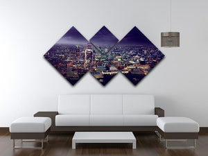 City of London At Sunset 4 Square Multi Panel Canvas  - Canvas Art Rocks - 3