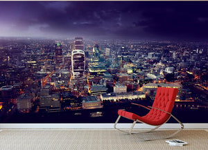 City of London At Sunset Wall Mural Wallpaper - Canvas Art Rocks - 2