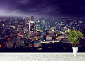 City of London At Sunset Wall Mural Wallpaper - Canvas Art Rocks - 4