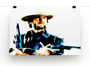 Clint Eastwood Spaghetti Western Cowboy Print - Canvas Art Rocks - 2
