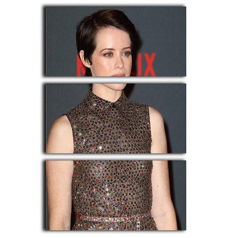 Claire Foy without a Crown 3 Split Panel Canvas Print - Canvas Art Rocks - 1