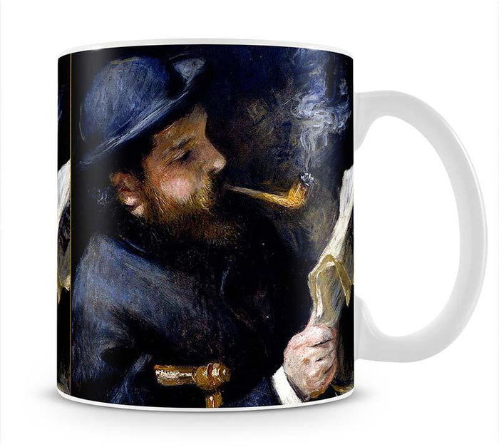 Claude Monet Reading A Newspaper by Renoir Mug