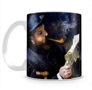 Claude Monet Reading A Newspaper by Renoir Mug - Canvas Art Rocks - 2