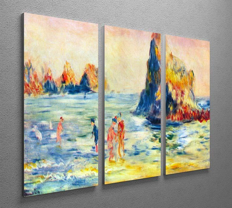 Cliffs at Guernsey by Renoir 3 Split Panel Canvas Print - Canvas Art Rocks - 2