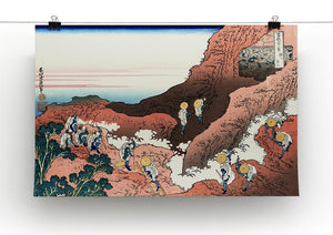 Climbing on Mt. Fuji by Hokusai Canvas Print or Poster - Canvas Art Rocks - 2