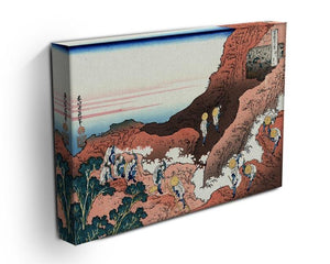 Climbing on Mt. Fuji by Hokusai Canvas Print or Poster - Canvas Art Rocks - 3