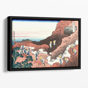 Climbing on Mt. Fuji by Hokusai Floating Framed Canvas