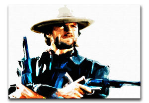 Clint Eastwood Spaghetti Western Cowboy Print - Canvas Art Rocks - 1