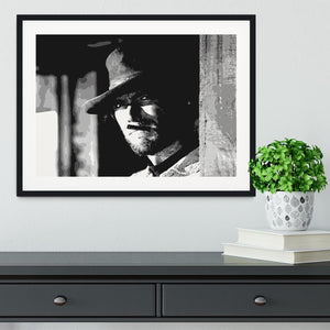 Clint Eastwood Fistful of Dollars Framed Print - Canvas Art Rocks - 1