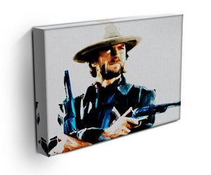 Clint Eastwood Spaghetti Western Cowboy Canvas Print & Poster - US Canvas Art Rocks