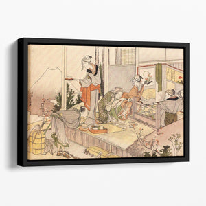 Close to mount Fuji by Hokusai Floating Framed Canvas