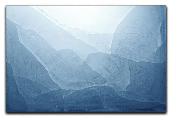 Closeup of blue ice background Canvas Print or Poster