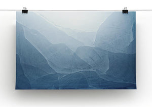 Closeup of blue ice background Canvas Print or Poster - Canvas Art Rocks - 2