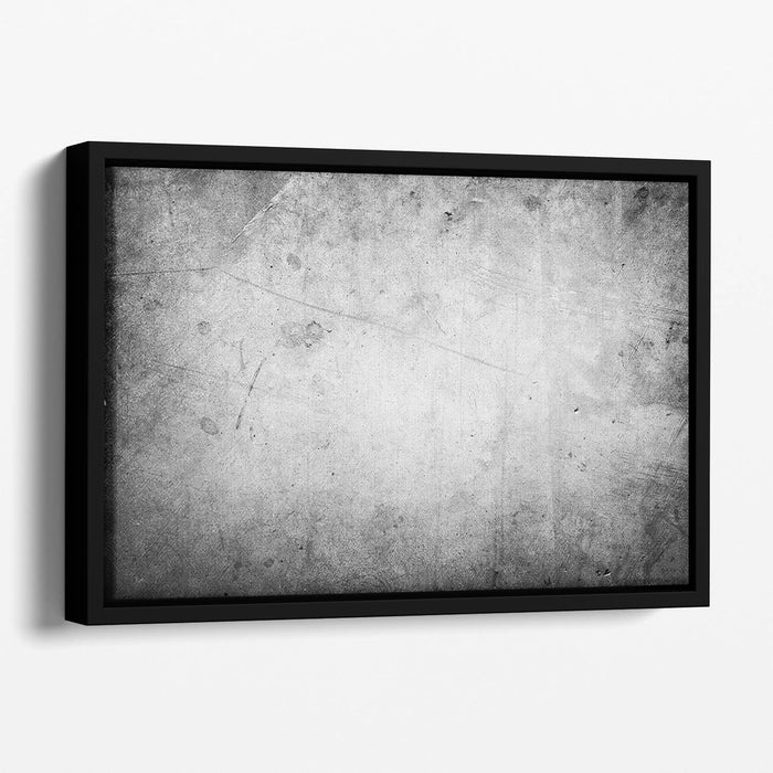 Closeup of textured grey wall Floating Framed Canvas