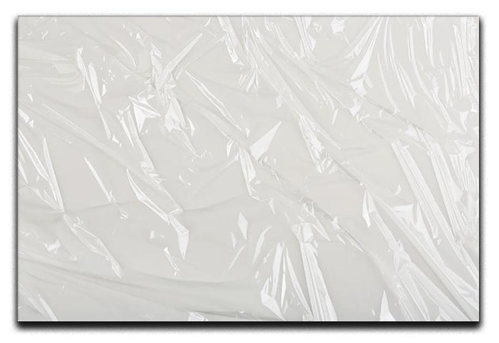 Closeup of wrinkled plastic Canvas Print or Poster
