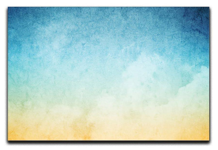 Cloudscape with grunge Canvas Print or Poster