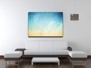 Cloudscape with grunge Canvas Print or Poster - Canvas Art Rocks - 4