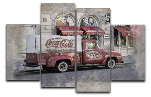 Coca Cola Van Painting 4 Split Panel Canvas  - Canvas Art Rocks - 1