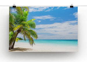 Coconut Palm trees on white sandy beach Canvas Print or Poster - Canvas Art Rocks - 2
