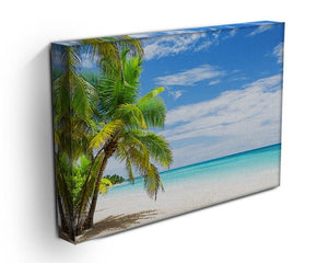 Coconut Palm trees on white sandy beach Canvas Print or Poster - Canvas Art Rocks - 3