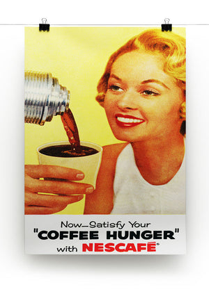 Satisfy Your Coffee Hunger Print - Canvas Art Rocks - 2