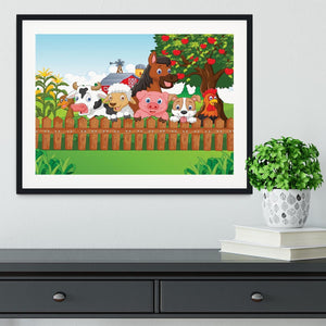 Collection farm animals Framed Print - Canvas Art Rocks - 1