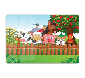 Collection farm animals HD Metal Print