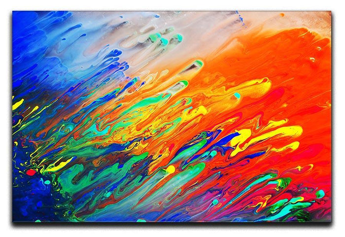 Colorful abstract acrylic painting Canvas Print or Poster