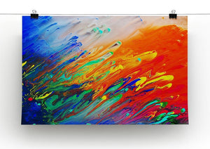 Colorful abstract acrylic painting Canvas Print or Poster - Canvas Art Rocks - 2