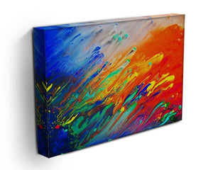 Colorful abstract acrylic painting Canvas Print or Poster - Canvas Art Rocks - 3