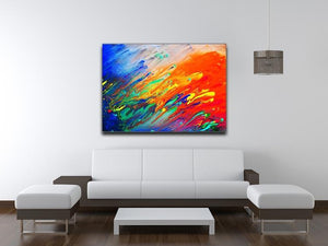 Colorful abstract acrylic painting Canvas Print or Poster - Canvas Art Rocks - 4