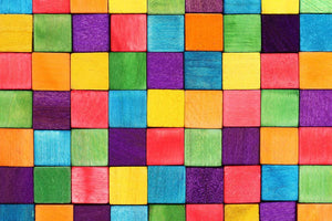 Colorful blocks Wall Mural Wallpaper - Canvas Art Rocks - 1