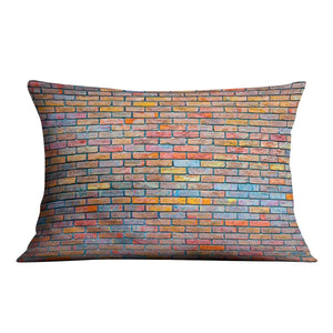 Colorful brick wall texture Cushion - Canvas Art Rocks - 4