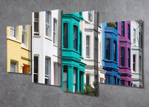 Colorful english houses 4 Split Panel Canvas  - Canvas Art Rocks - 2