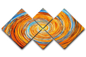 Colorful spiral fractal 4 Square Multi Panel Canvas  - Canvas Art Rocks - 1