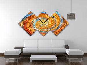 Colorful spiral fractal 4 Square Multi Panel Canvas  - Canvas Art Rocks - 3