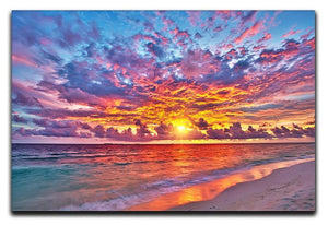 Colorful sunset over ocean on Maldives Canvas Print or Poster  - Canvas Art Rocks - 1