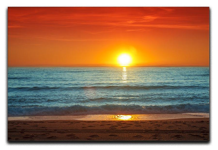 Colorful sunset over the sea Canvas Print or Poster