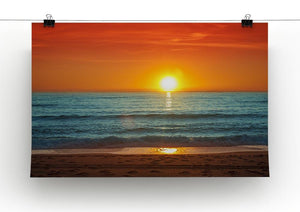 Colorful sunset over the sea Canvas Print or Poster - Canvas Art Rocks - 2