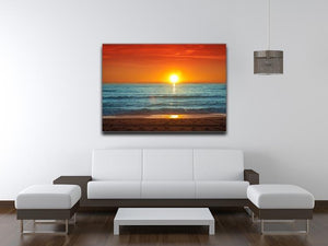 Colorful sunset over the sea Canvas Print or Poster - Canvas Art Rocks - 4