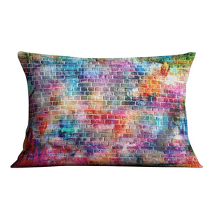 Colorful wall painting art Cushion - Canvas Art Rocks - 4