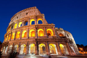 Colosseum Dome at dusk Wall Mural Wallpaper - Canvas Art Rocks - 1