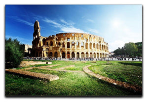 Colosseum Sunny Day in Rome Canvas Print or Poster  - Canvas Art Rocks - 1