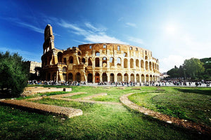 Colosseum Sunny Day in Rome Wall Mural Wallpaper - Canvas Art Rocks - 1