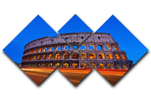 Colosseum at dusk 4 Square Multi Panel Canvas  - Canvas Art Rocks - 1