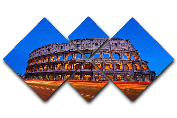 Colosseum at dusk 4 Square Multi Panel Canvas